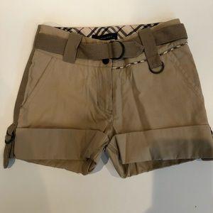Burberry girls shorts size 3